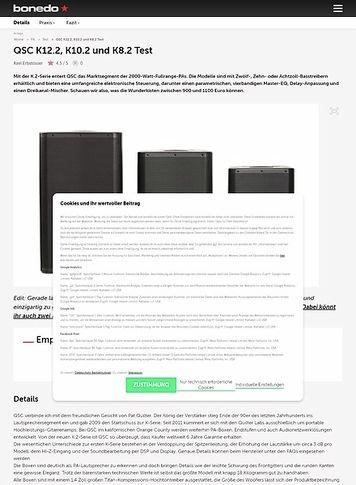 Bonedo.de QSC K12.2, K10.2 und K8.2
