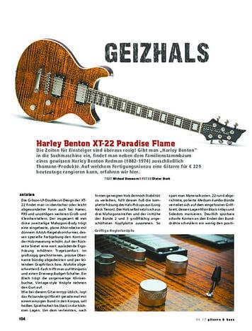 Gitarre & Bass Harley Benton XT-22 Paradise Flame
