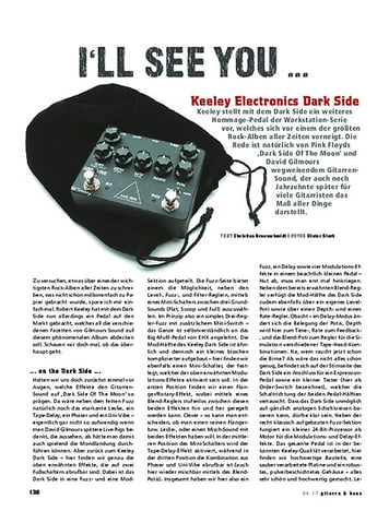 Gitarre & Bass Keeley Electronics Dark Side
