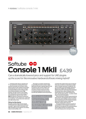 Computer Music Softube Console 1 MkII