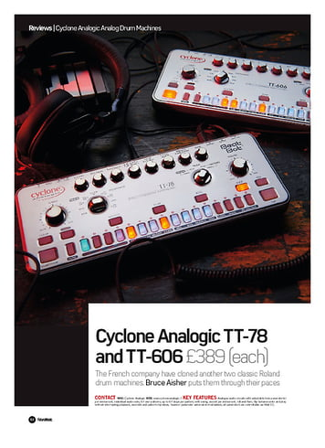 Future Music Cyclone Analogic TT-78 and TT-606