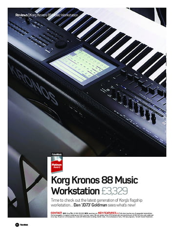 Future Music Korg Kronos 88 Music Workstation