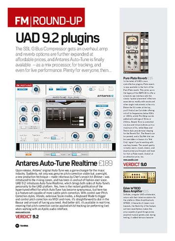 Future Music Antares Auto-Tune Realtime