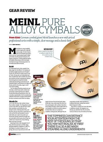 Rhythm Meinl Pure Alloy Cymbals