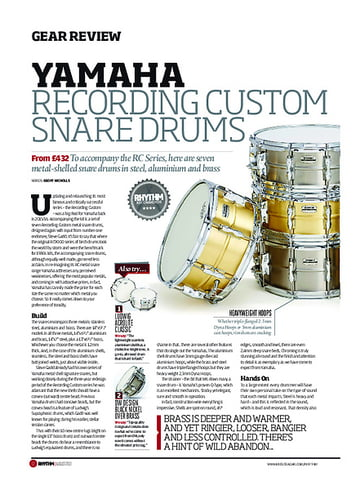 Rhythm Yamaha Recording Custom Snare Drums