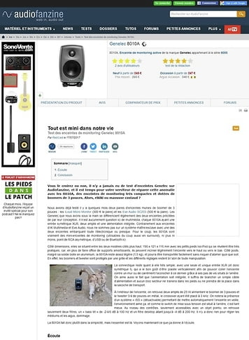 Audiofanzine.com Genelec 8010A