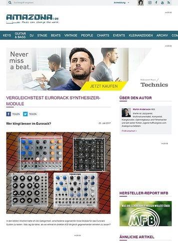 Amazona.de Vergleichstest Eurorack Synthesizer-Module