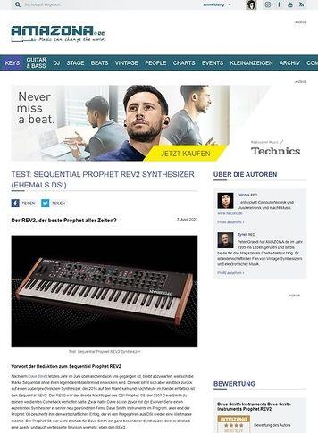 Amazona.de Dave Smith Instruments Prophet REV2