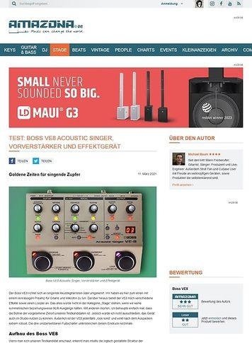 Amazona.de Boss VE8 Acoustic Singer