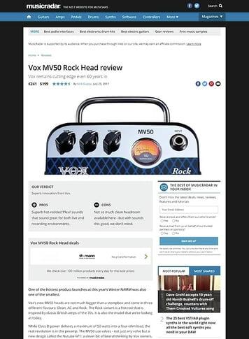 MusicRadar.com Vox MV50 Rock Head
