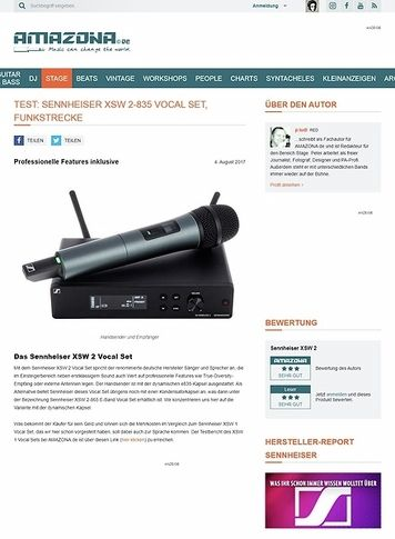 Amazona.de Sennheiser XSW 2-835 Vocal Set