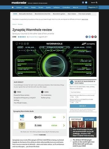 MusicRadar.com Zynaptiq Wormhole
