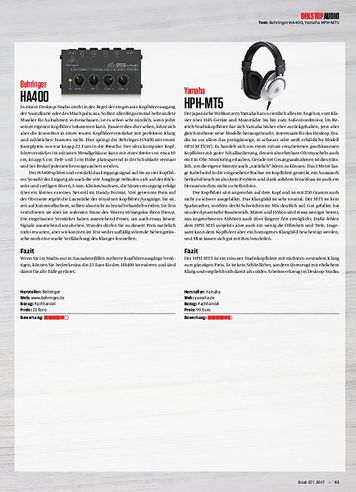 Beat Behringer HA400, Yamaha HPH-MT5