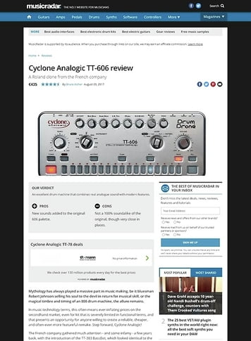 MusicRadar.com Cyclone Analogic TT-606