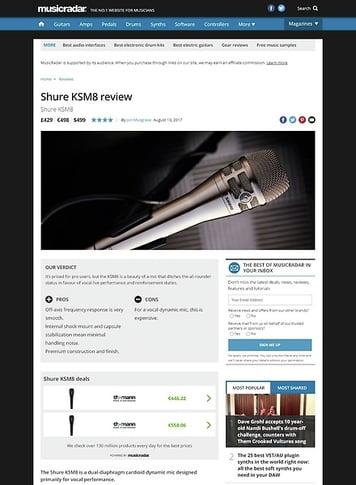 MusicRadar.com Shure KSM8