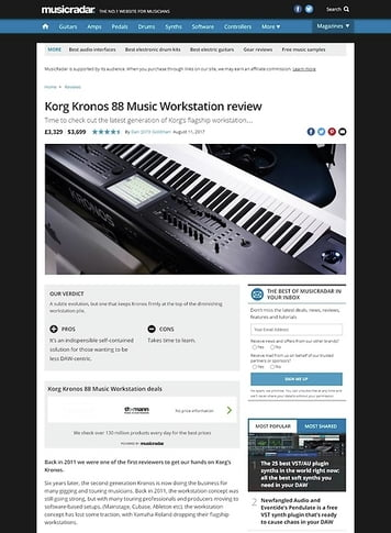 MusicRadar.com Korg Kronos 88 Music Workstation