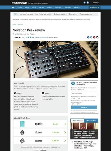 MusicRadar.com Novation Peak