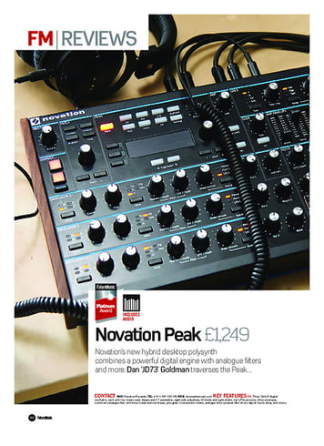 Future Music Novation Peak
