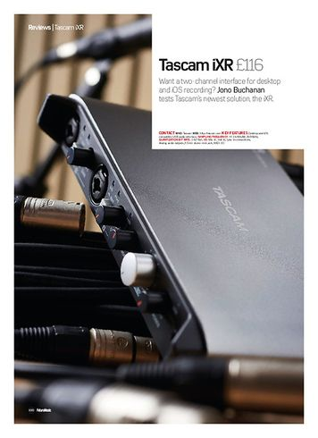 Future Music Tascam iXR