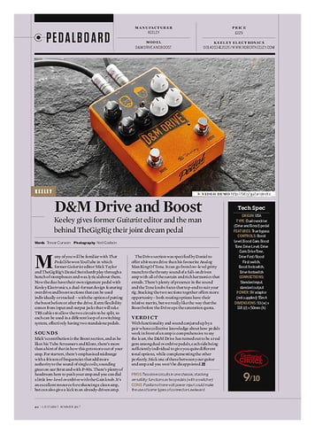 Guitarist Keeley D&M Drive and Boost