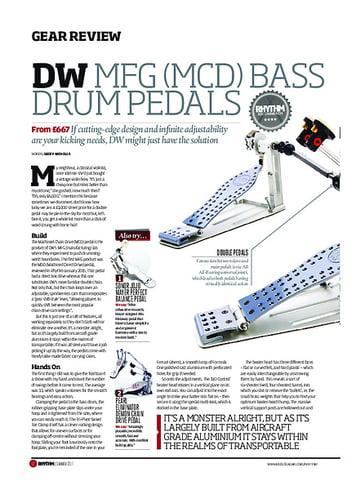 Rhythm DW MFG Bass Drum Pedals