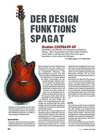 Gitarre & Bass Ovation C2078AXP-AF