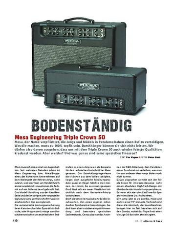 Gitarre & Bass Mesa Engineering Triple Crown 50