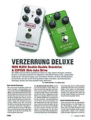 Gitarre & Bass MXR M250 Double-Double Overdrive / CSP035 Shin-Juku Drive