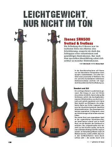 Gitarre & Bass Ibanez SRH500