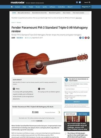 MusicRadar.com Fender Paramount PM-3 Standard Triple-0 All-Mahogany