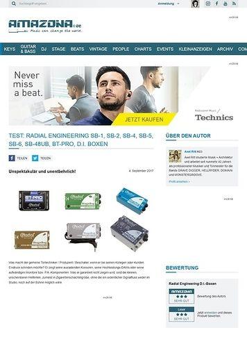 Amazona.de Radial Engineering SB-1, SB-2, SB-4, SB-5, SB-6, SB-48UB, BT-Pro