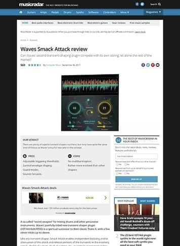 MusicRadar.com Waves Smack Attack