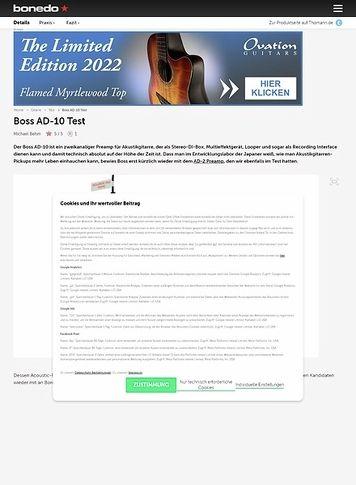 Bonedo.de Boss AD-10
