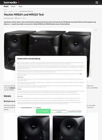 Bonedo.de Mackie MR824 und MRS10