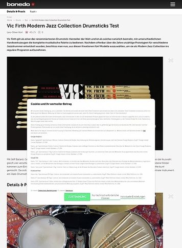 Bonedo.de Vic Firth Modern Jazz Collection Drumsticks