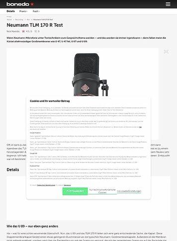 Bonedo.de Neumann TLM 170 R