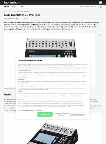 Bonedo.de QSC TouchMix-30 Pro
