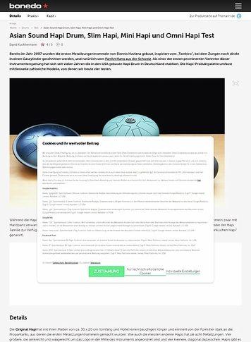 Bonedo.de Asian Sound Hapi Drum, Slim Hapi, Mini Hapi und Omni Hapi