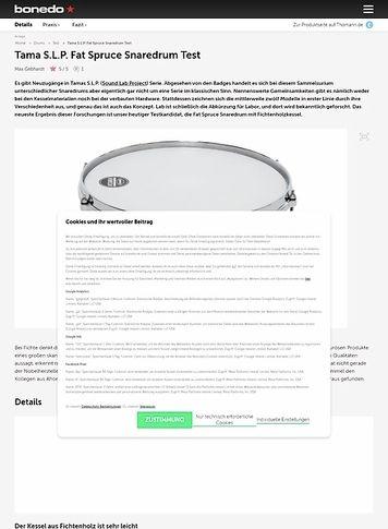 Bonedo.de Tama S.L.P. Fat Spruce Snaredrum