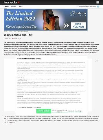 Bonedo.de Walrus Audio 385