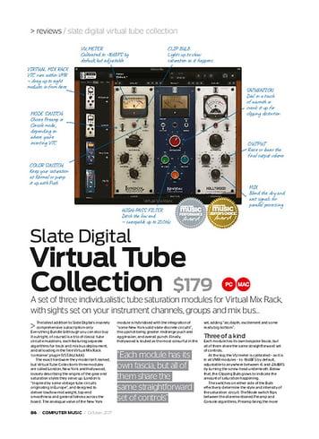 Computer Music Slate Digital Virtual Tube Collection