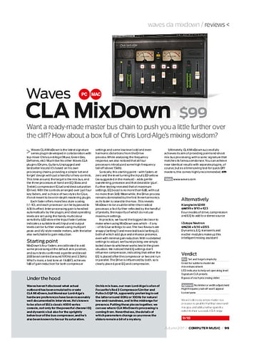 Computer Music Waves CLA MixDown