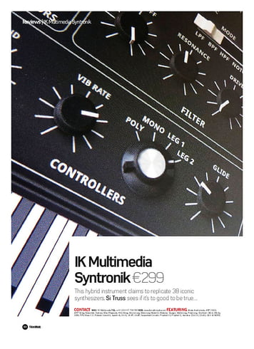 Future Music IK Multimedia Syntronik