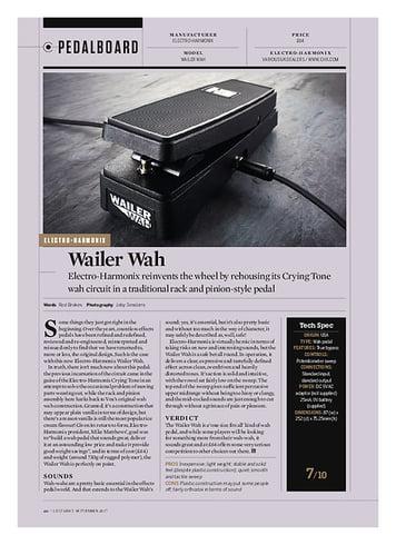 Guitarist Electro-Harmonix Wailer Wah