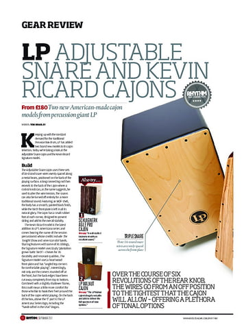 Rhythm LP Adjustable Snare And Kevin Ricard Cajons