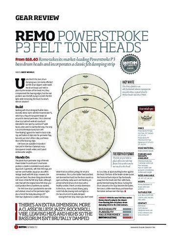 Rhythm Remo PowerStroke P3 Felt Tone Heads