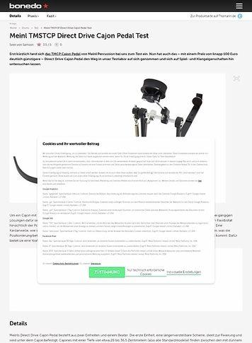 Bonedo.de Meinl TMSTCP Direct Drive Cajon Pedal