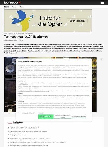 Bonedo.de Testmarathon 4x10