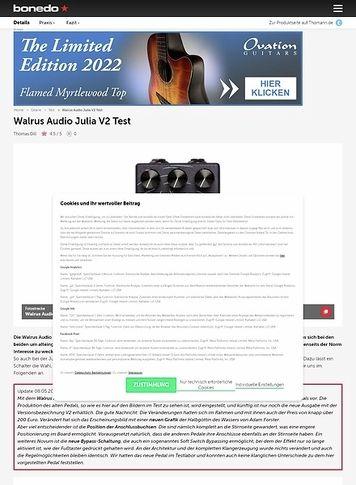 Bonedo.de Walrus Audio Julia
