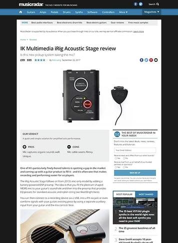 MusicRadar.com IK Multimedia iRig Acoustic Stage